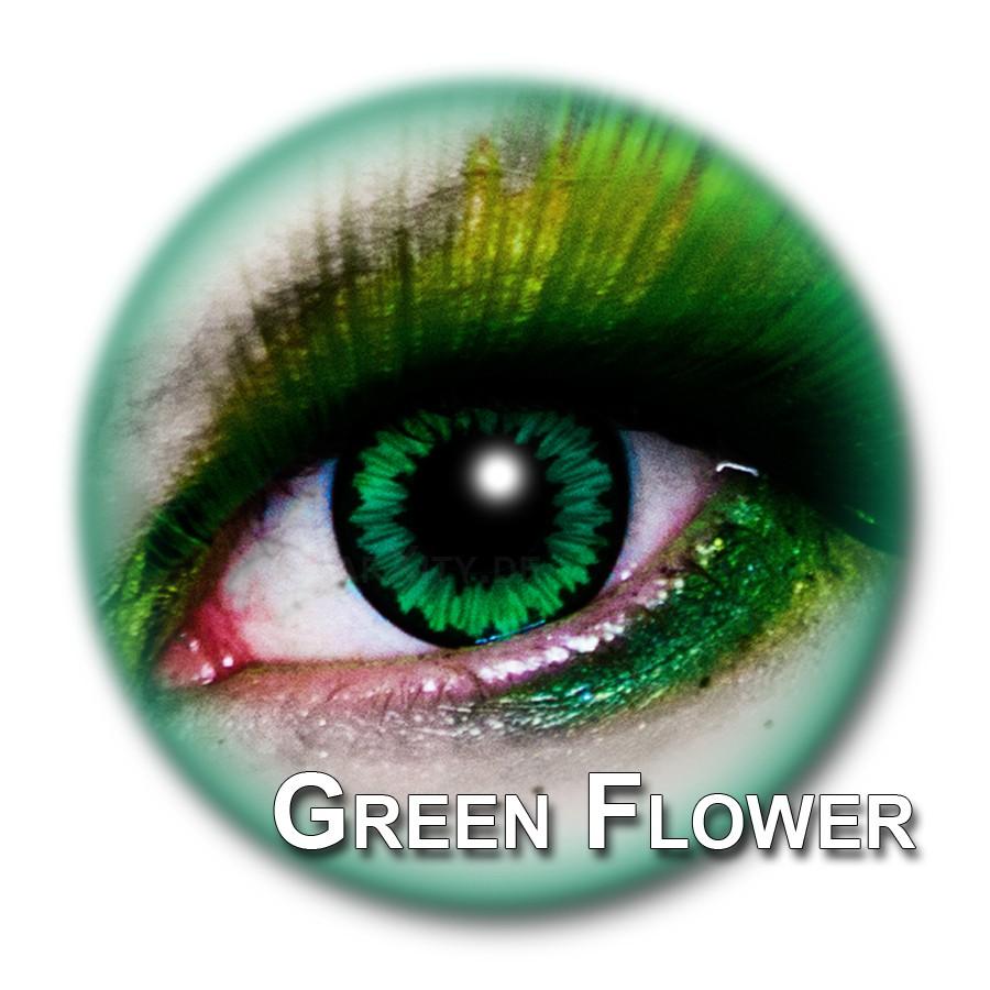 gr ne kontaktlinsen green flower funlinsen. Black Bedroom Furniture Sets. Home Design Ideas