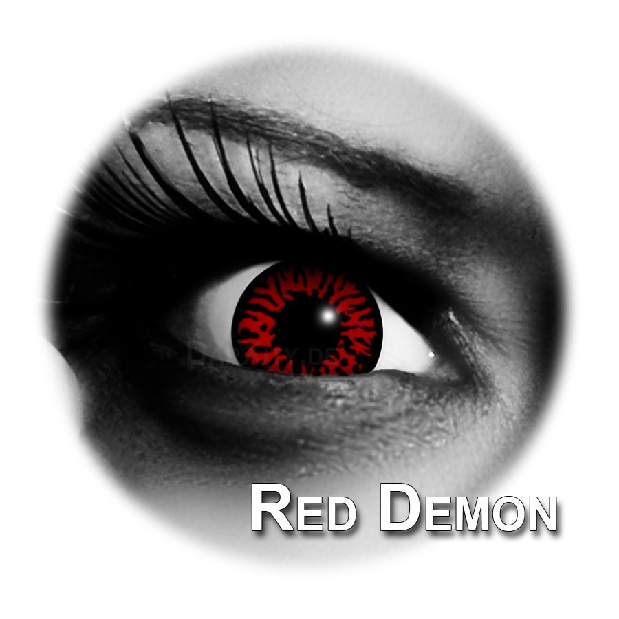 rot schwarze kontaktlinsen red demon funlinsen. Black Bedroom Furniture Sets. Home Design Ideas